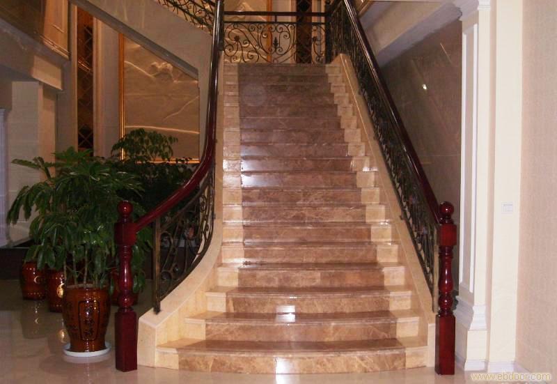Emperador scala di marmo beige scala di marmo - Scale di marmo ...
