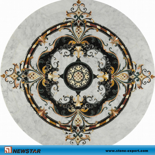 자연적인 대리석 모자이크 꽃 패턴 디자인 – 자연적인 대리석 ...