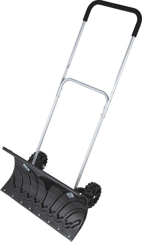 Скребок для уборки снега на колёсах