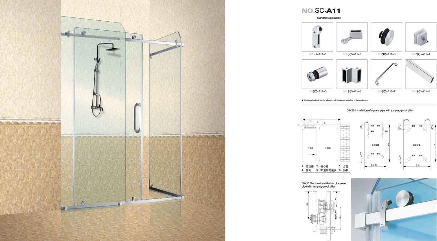 De bijlage van de douche van het glas scgs11 de bijlage van de douche van het glas scgs11 - Douchekamer model ...