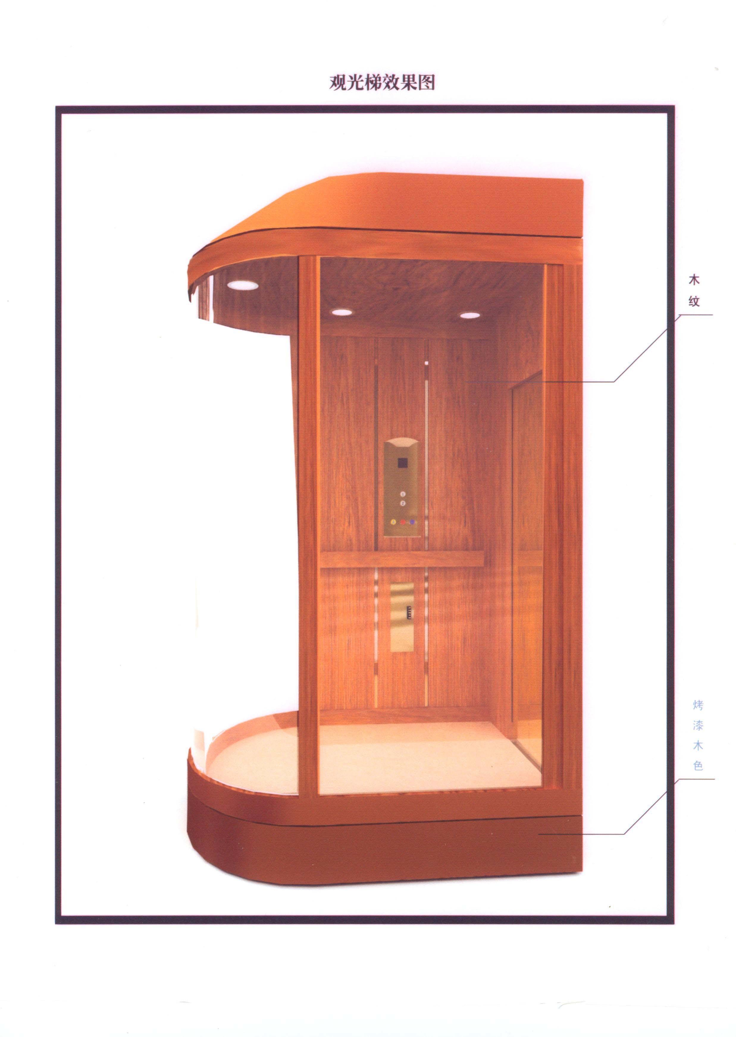 ascenseur en verre de trois c t tkj450 1 0 jxw. Black Bedroom Furniture Sets. Home Design Ideas
