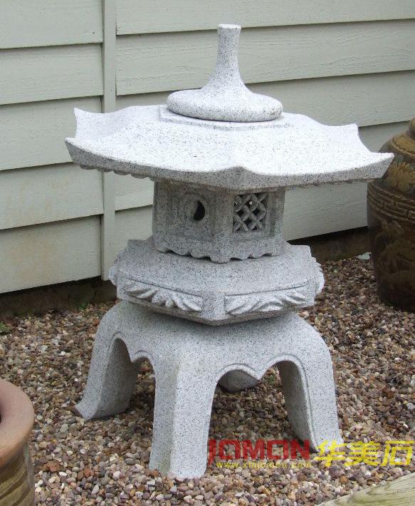 De japanse lantaarn van rokaku yukimi van de steen van de tuin xmj gl28 de japanse lantaarn - Tuin decoratie buitenkant ...