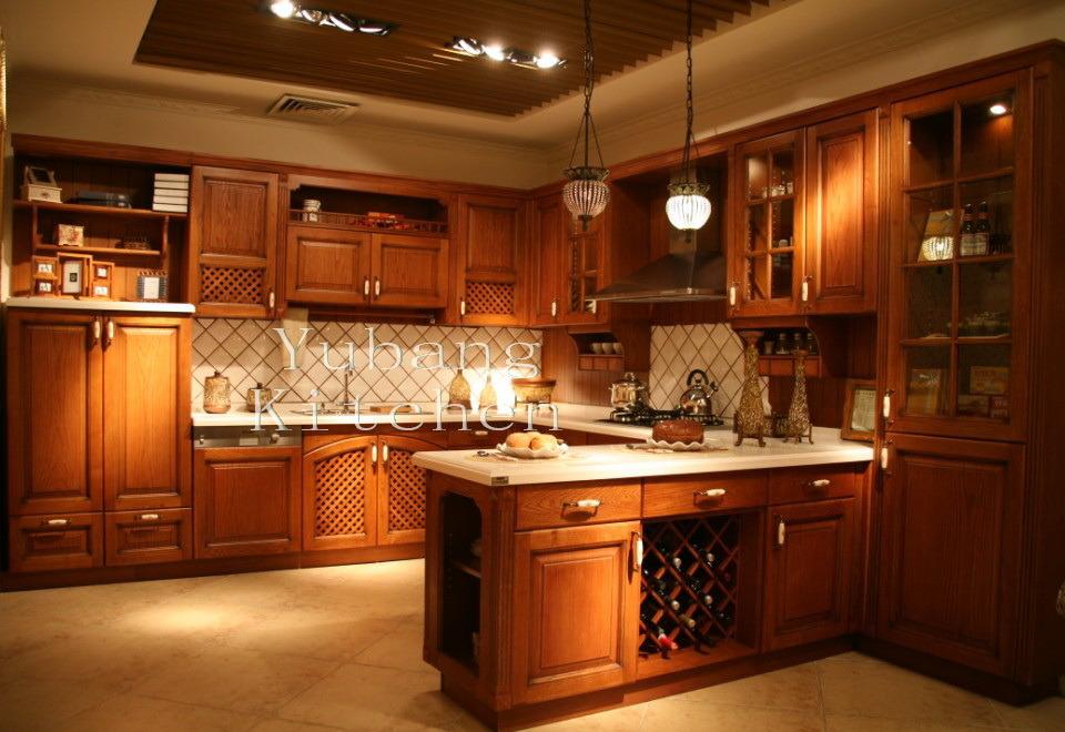Gabinete de cocina de madera sólida #177 – Gabinete de cocina de