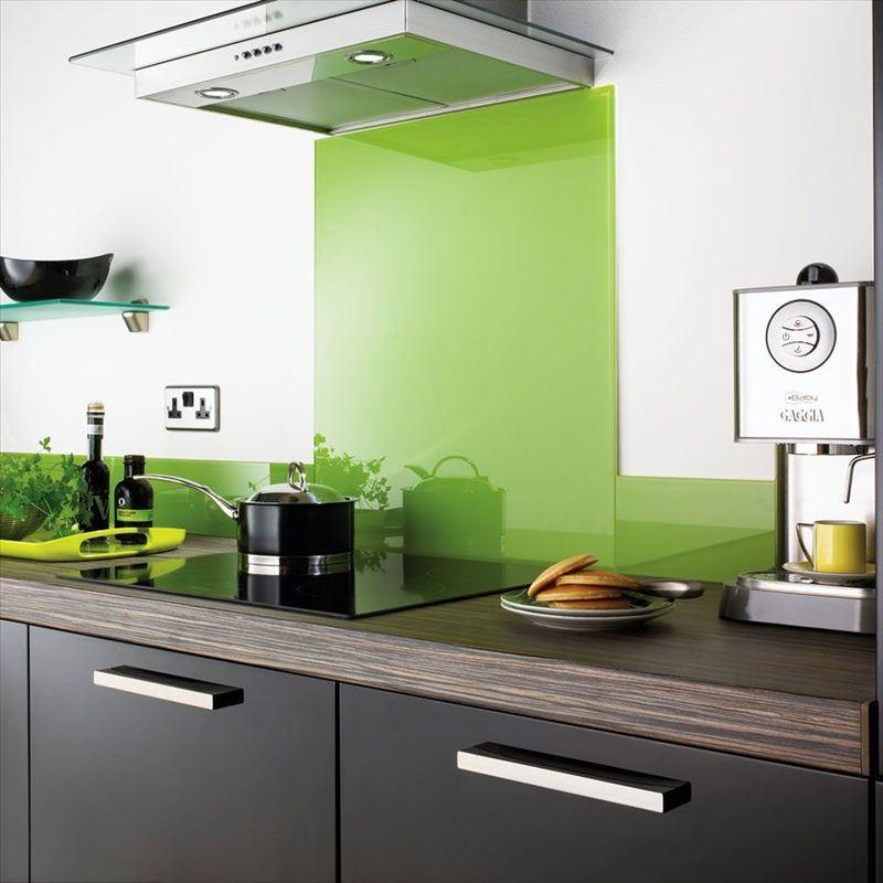 Foto de splashback de vidro pintado em pt made in - Cubrir azulejos cocina ...