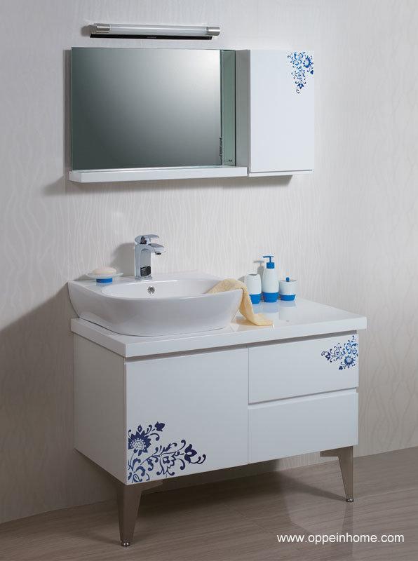 Armário azul e branco de armário de banheiro da laca da porcelana de banheiro -> Armario De Banheiro Azul
