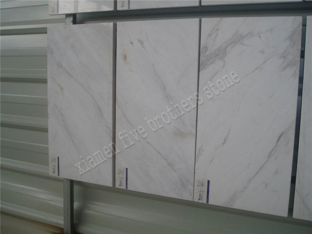Azulejo de piedra de m rmol blanco de volakas de la for Piedra de marmol precio
