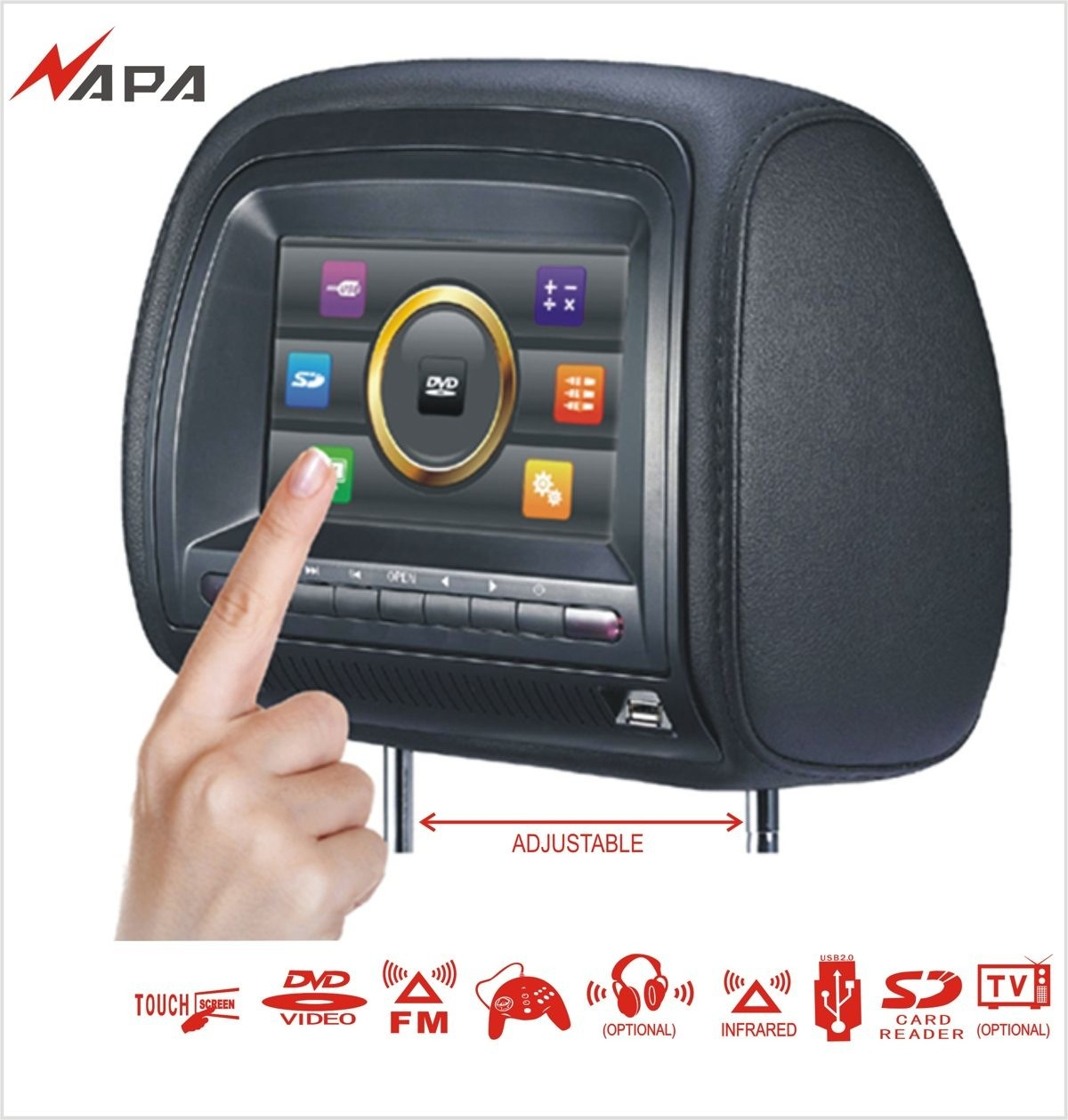 voiture dvd h666d d 39 appui t te voiture dvd h666d d 39 appui t te fournis par guangzhou napa. Black Bedroom Furniture Sets. Home Design Ideas