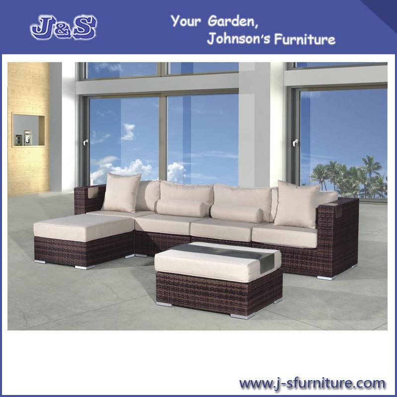 Jardín Patio Wicker Sofa Set - Rattan Muebles de exterior (J255) – Jardín Pat...