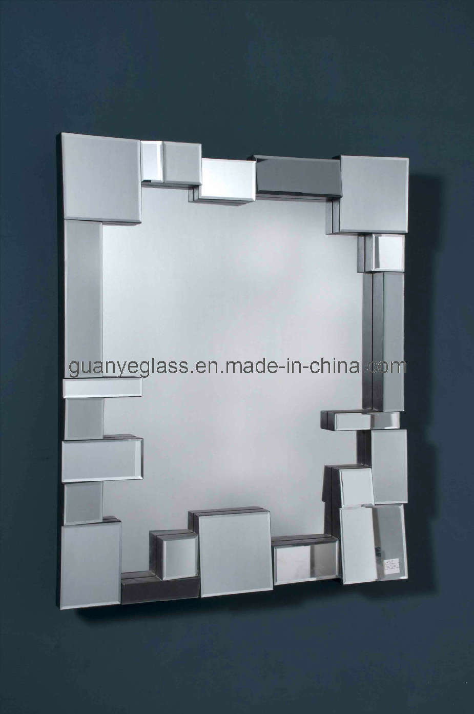 Miroir moderne de jisaw d 39 espace libre de m tier de main for Miroir in english