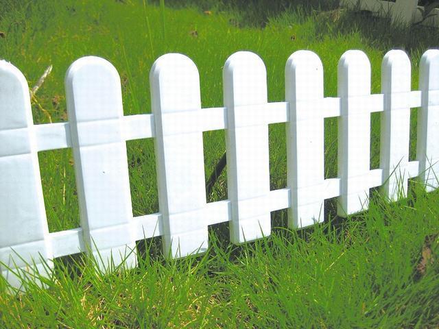 cerca para jardim branca : cerca para jardim branca:Cerca branca plástica da cerca do jardim –Cerca branca plástica da