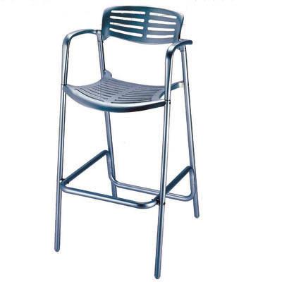 Aluminio sillas bar con apoyabrazos para muebles de for Sillas de aluminio