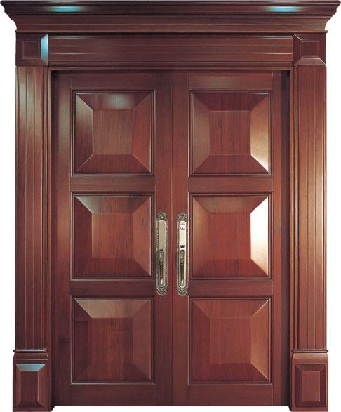 Buenas puertas de madera s lida del doble del dise o for Puertas diseno italiano