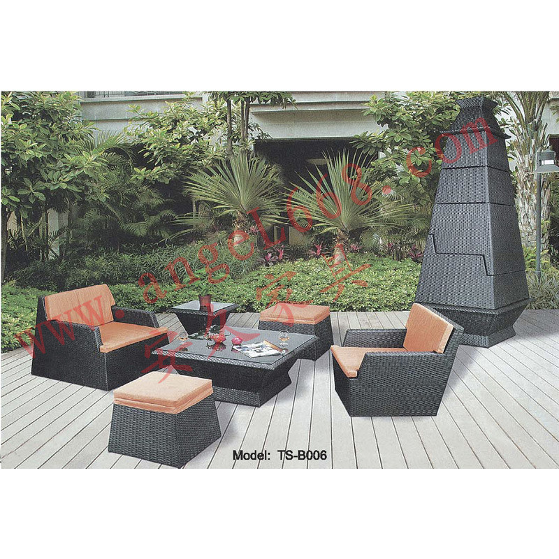 freizeit rattan m bel tisch stuhl set f r outdoor foto auf de made in. Black Bedroom Furniture Sets. Home Design Ideas