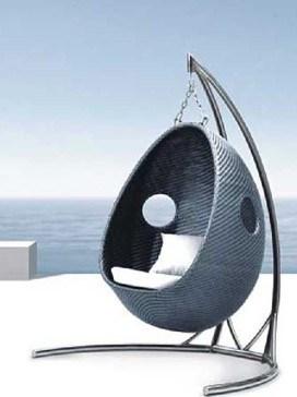 Silla colgante al aire libre del huevo lg50 9587 silla for Silla huevo colgante