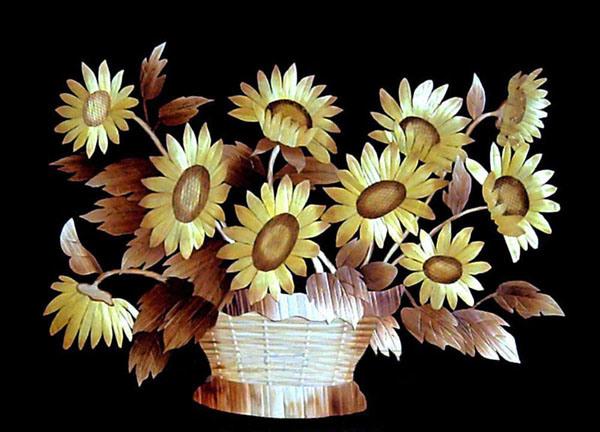Adesivo De Borboleta Para Geladeira ~ Pintura de lingüeta do artesanato (girassol 1) u2013Pintura de lingüeta do artesanato (girassol 1