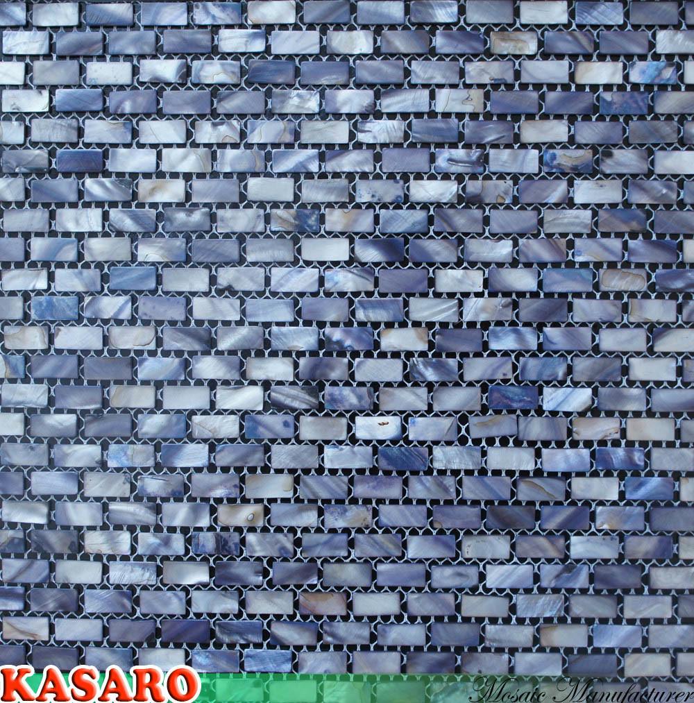 Shell nacarado azulejo del ba o del mosaico azulejo - Azulejo mosaico bano ...