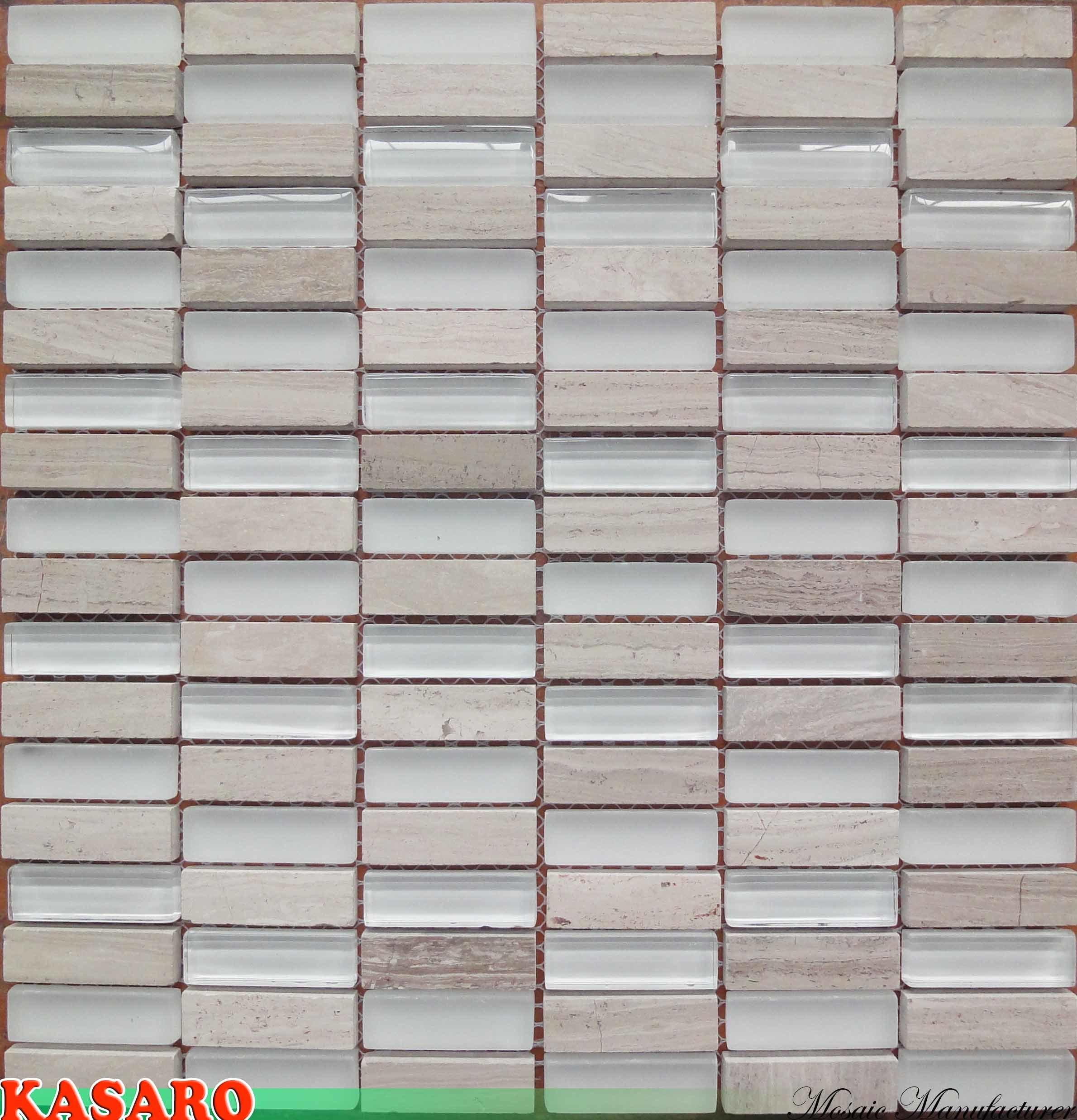 Azulejo de m rmol gris de madera de la frontera del - Mosaico de madera ...