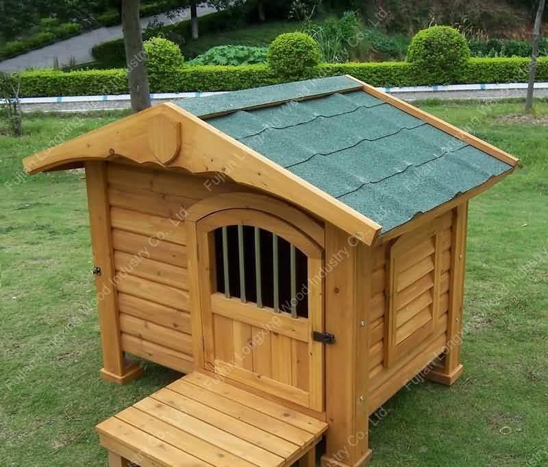 Casa de perro de madera lxph 232 casa de perro de Casas para perros de madera