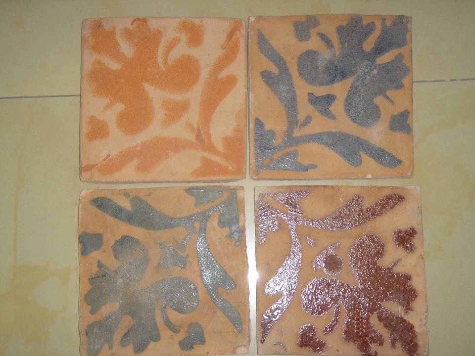 Mattonelle handmade rustiche di terracotta (stampate) – mattonelle ...
