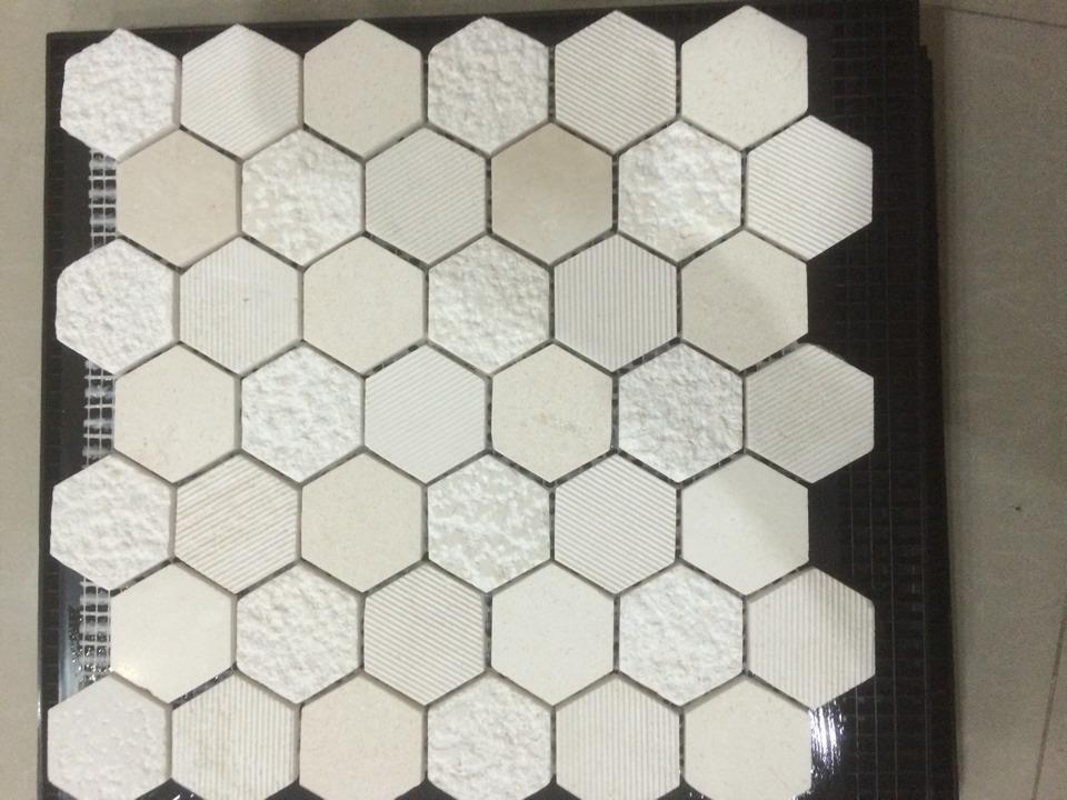 mosaique hexagonale blanche. Black Bedroom Furniture Sets. Home Design Ideas