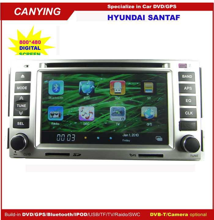 lecteur dvd de voiture pour hyundai santa fe cy 8002. Black Bedroom Furniture Sets. Home Design Ideas
