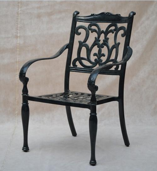 Chaise extérieure de bras en métal de patio de meubles de ...