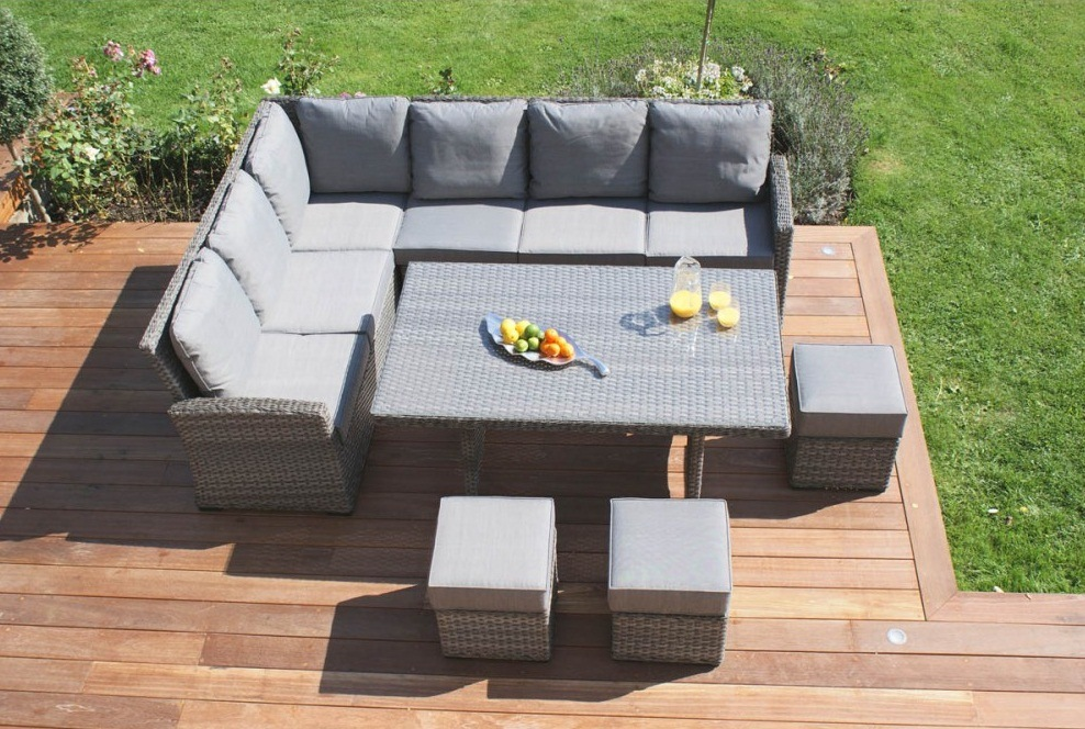 Meubles r gl s de patio de rotin de sofa ext rieur en for Meuble patio