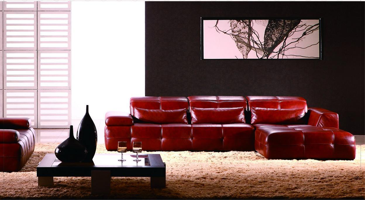Sof d 39 angolo di cuoio di couch del sof mobilia for Zurich mobilia domestica