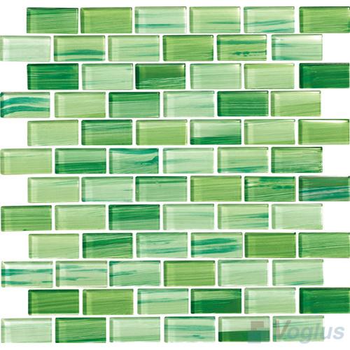 지하철 벽돌 밝은 초록색 손으로 그리는 유리제 모자이크 ...