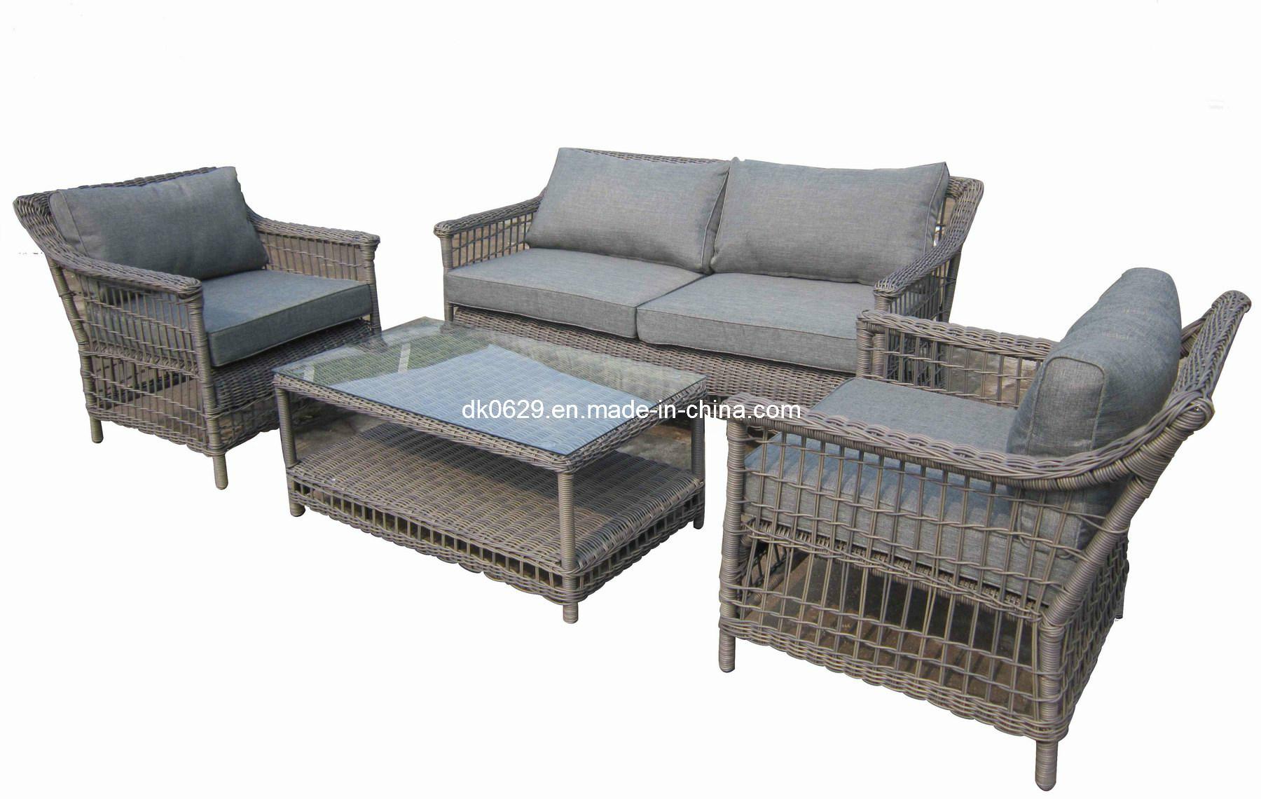 Sofa de rotin de garden de sofa de jardin sofa en osier for Sofa jardin