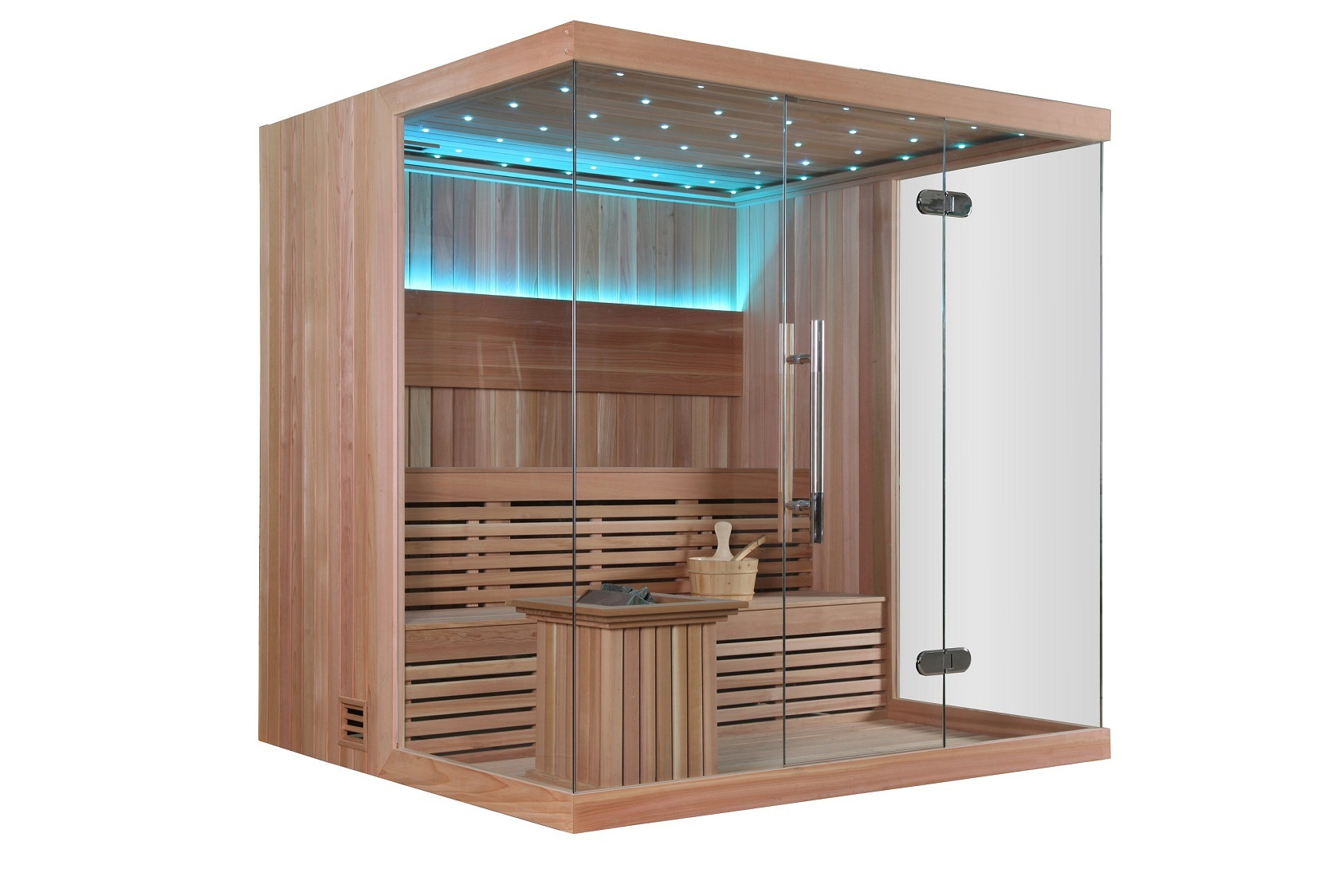 Foto de Sauna seca de Monalisa com madeira importada para a venda M  #2190AA 1685x1124
