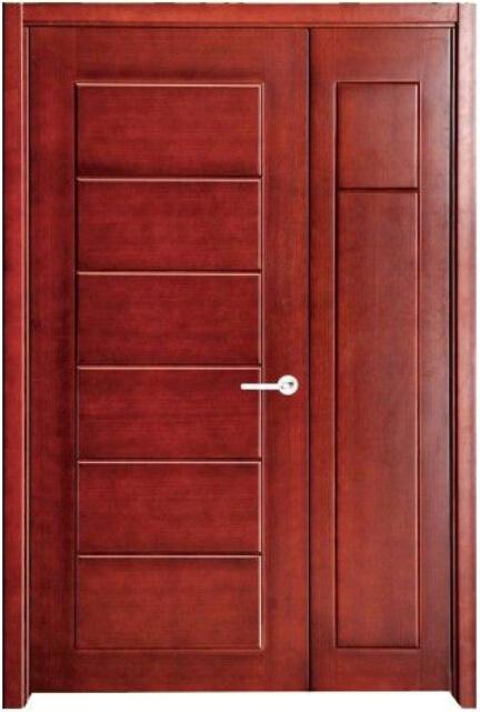 Foto de dise o simple puerta tallado de madera de pino for Disenos puertas de madera exterior