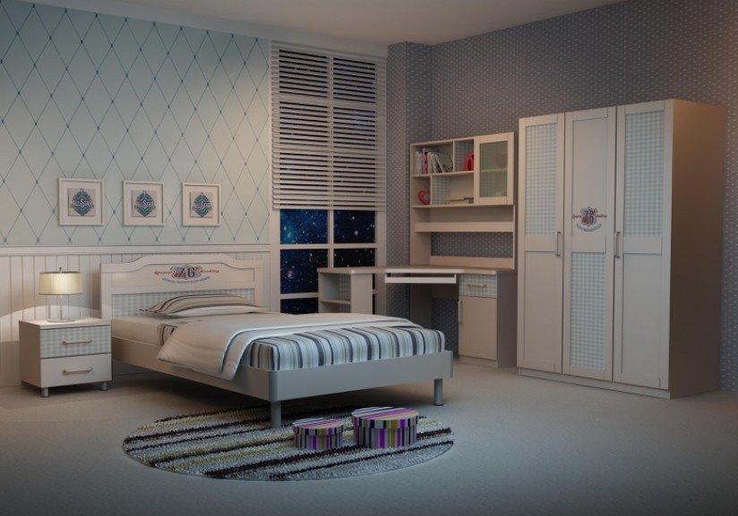2012 het meubilair van de slaapkamer van de kinderen van de tiener 550002 2012 het meubilair - Tiener slaapkamer kleur ...