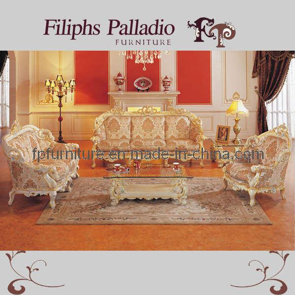 Het italiaanse klassieke meubilair van linving roon van de bank van de woonkamer vastgestelde - Meubilair van de ingang spiegel ...