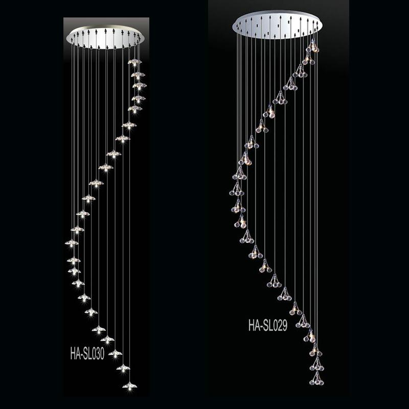 lampe pendante en cristal de cage d 39 escalier ha sl036 18 lampe pendante en cristal de cage d. Black Bedroom Furniture Sets. Home Design Ideas