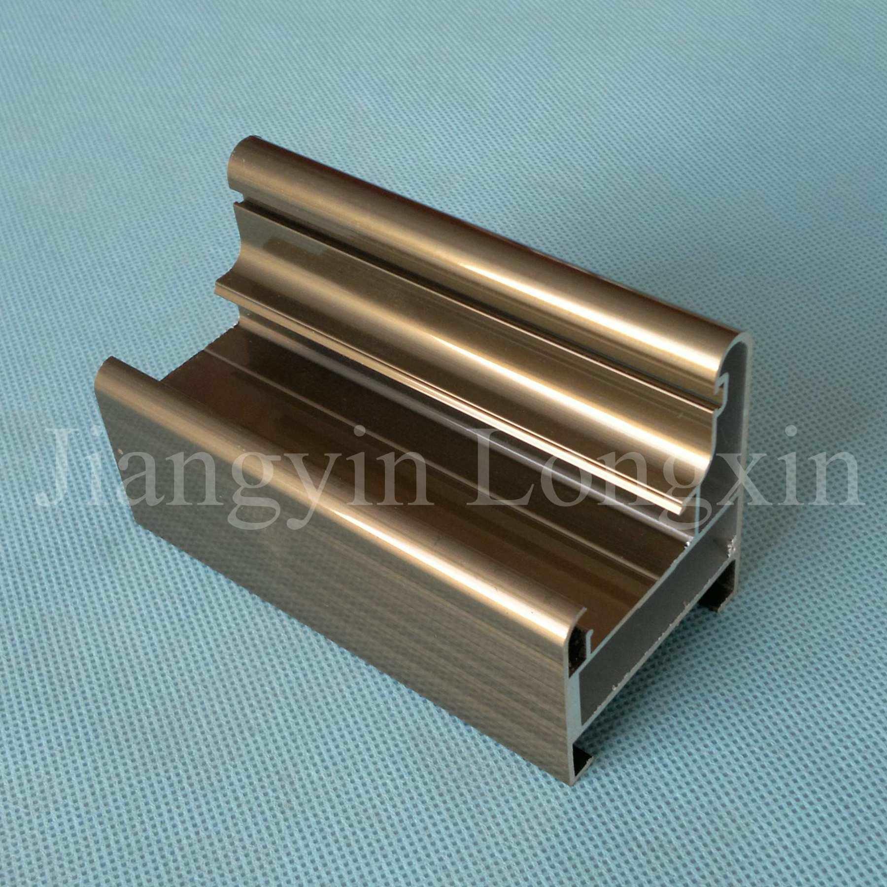 Foto de perfil de alum nio anodizado bronze para portas em - Perfil aluminio anodizado ...