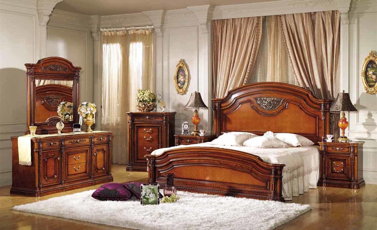 Muebles del dormitorio 801 muebles del dormitorio 801 proporcionado por zhejiang noble - Chambre a coucher en bois hetre moderne ...