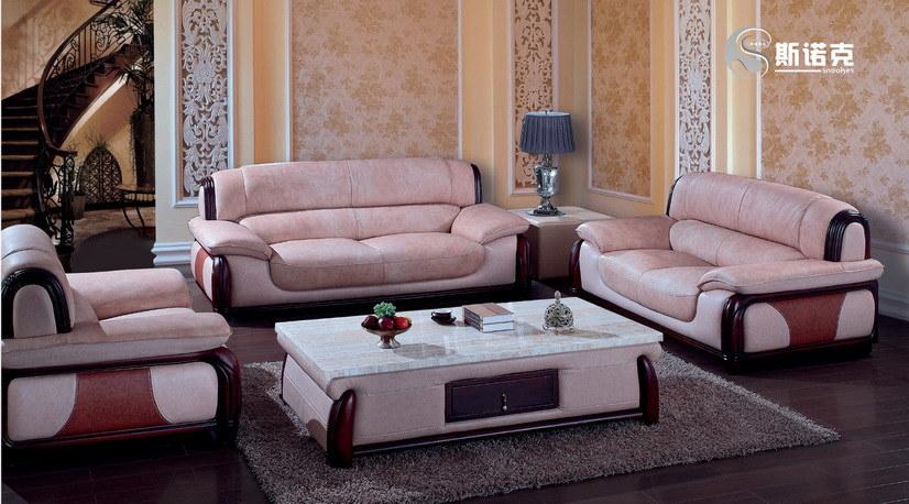 Sof de cuero de madera muebles europeos del estilo q1 for Europa muebles