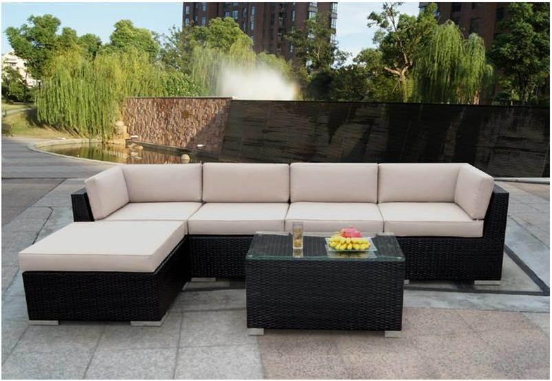 Muebles de jard n de mimbre al aire libre patio de rat n for Diseno de muebles de jardin al aire libre