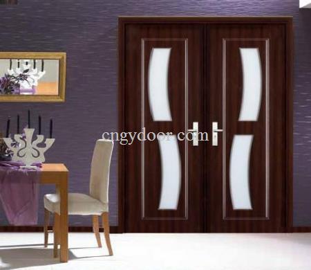 Puerta de cristal de las puertas dobles puerta francesa for Puertas dobles para interiores