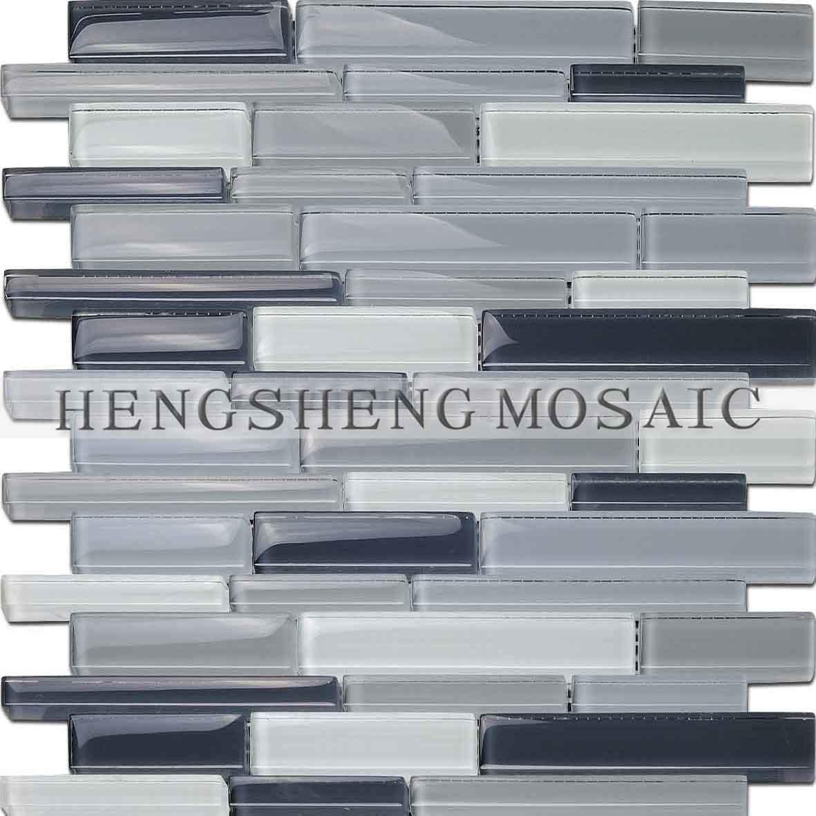 Azulejo de la pared del mosaico del vidrio cristalino para - Azulejos de cristal ...