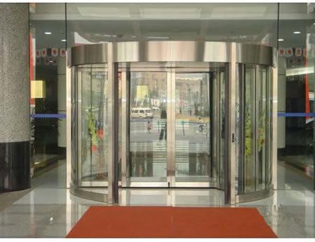 Puerta giratoria autom tica de lujo cn 5200 puerta for Puerta giratoria