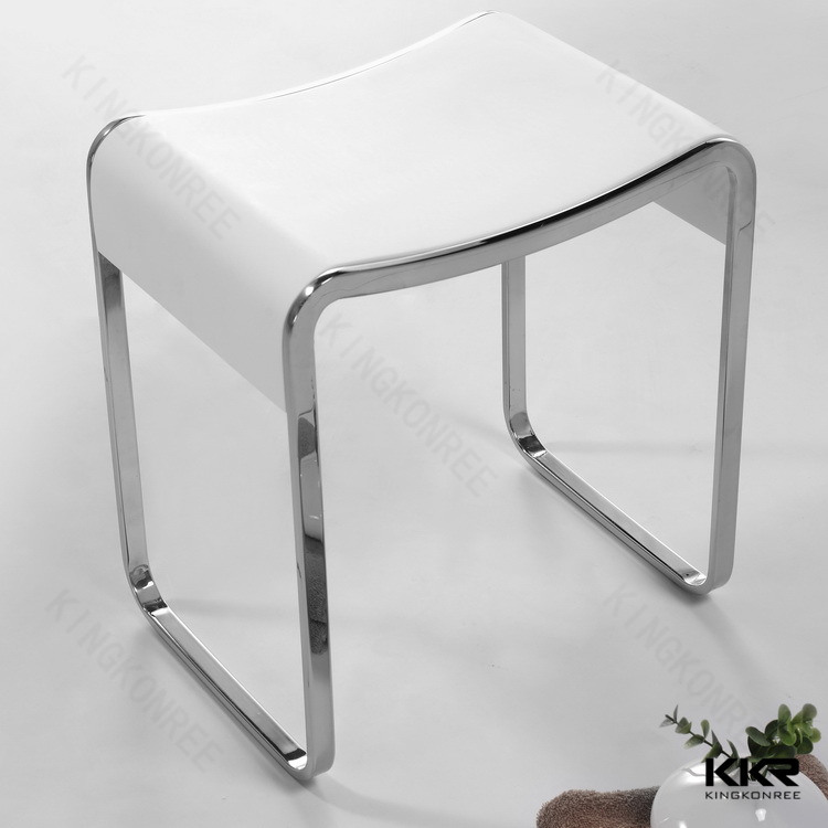 tabouret moderne blanc de douche de salle de bains de. Black Bedroom Furniture Sets. Home Design Ideas