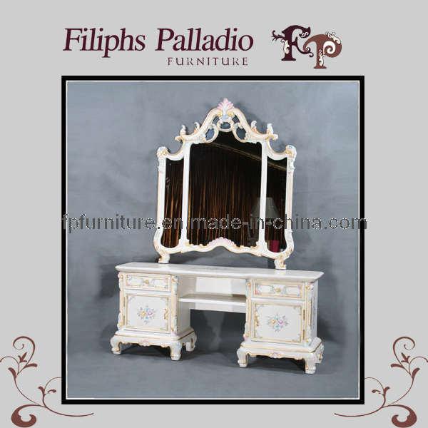 Het klassieke meubilair van de slaapkamer klassieke toilettafel 0605 het klassieke - Meubilair van de ingang spiegel ...