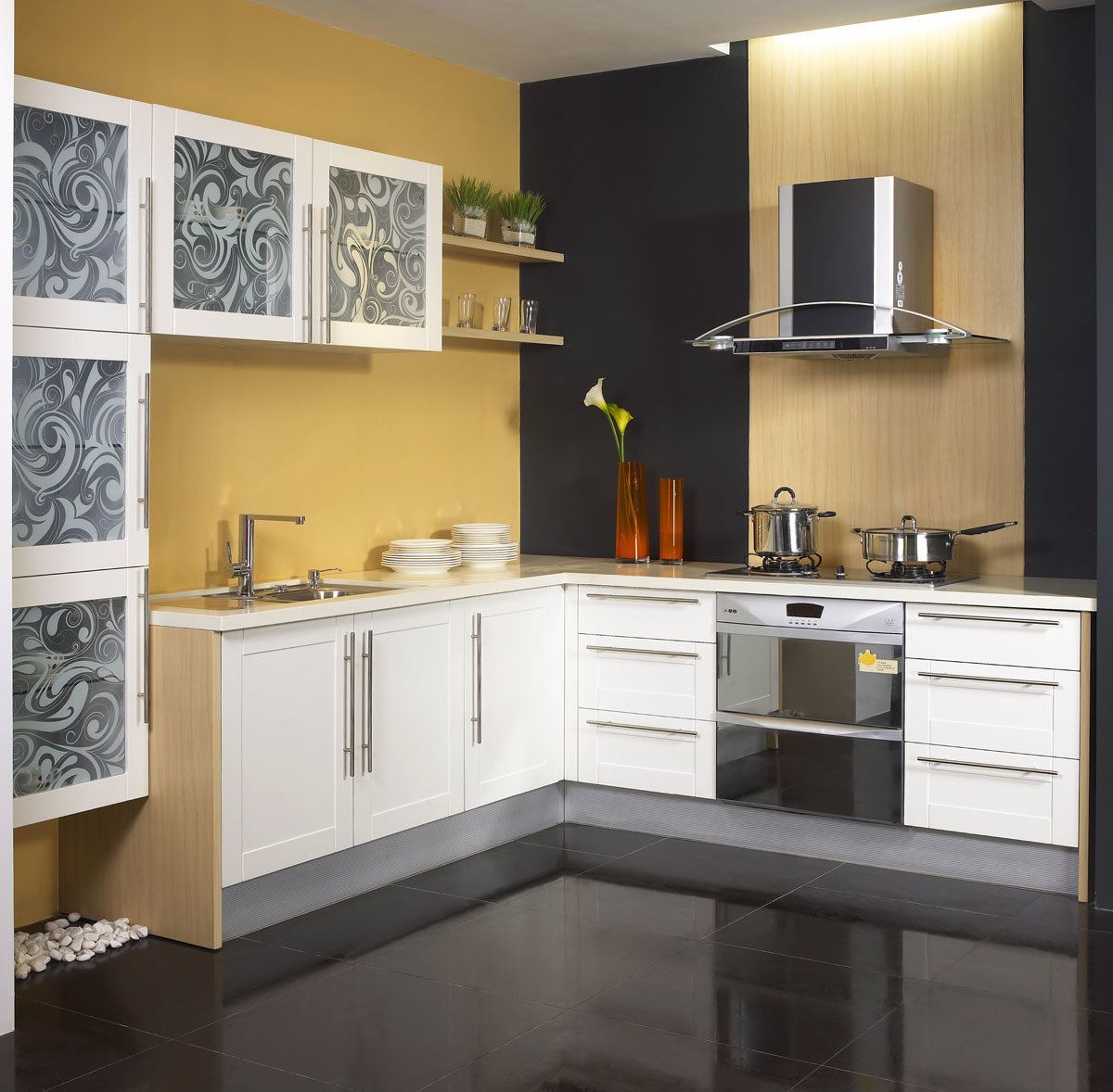 Foto de modulares muebles de cocina alto brillo uv de for Muebles de cocina de madera modernos