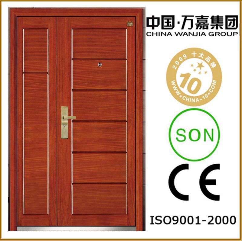 Porte ext rieure acier en bois de m re et de fils wj b 4m - Peinture pour porte exterieure en bois ...