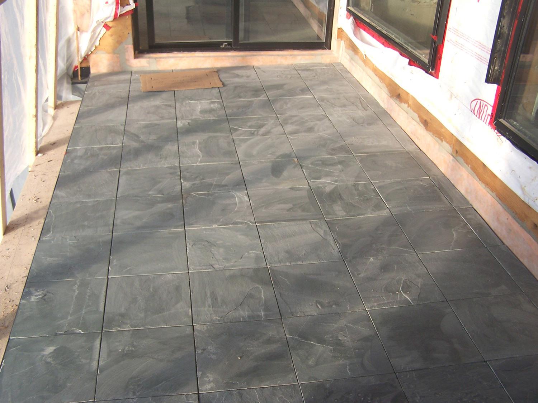 Azulejo de la pizarra para el piso del patio azulejo de - Azulejos para patio ...