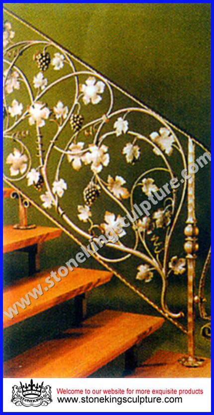 Escalera del hierro labrado barandilla del hierro sk - Barandillas de hierro para escaleras ...