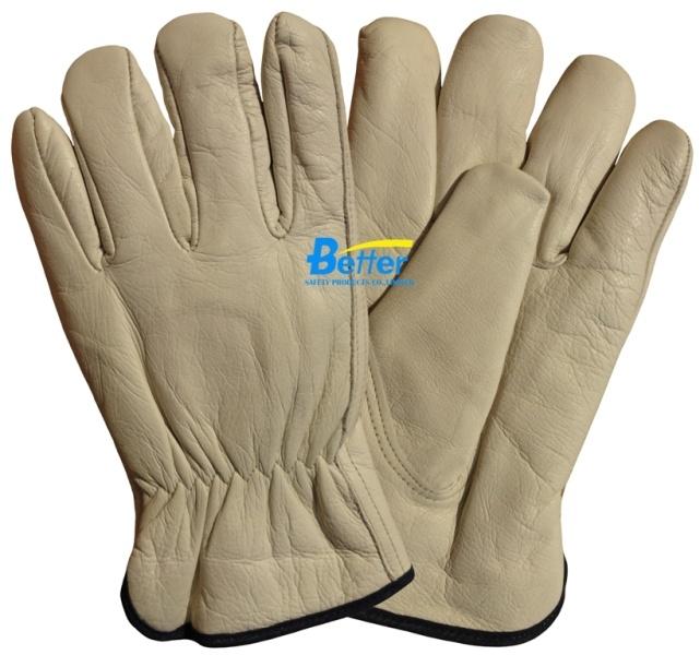 gants de travail de conducteur de cuir de vache grain bgcd103 gants de travail de. Black Bedroom Furniture Sets. Home Design Ideas