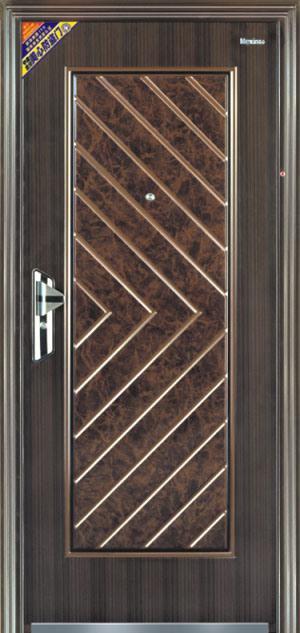 Anheat transferir los cepillos del tique de la puerta de for Puertas de metal para interiores